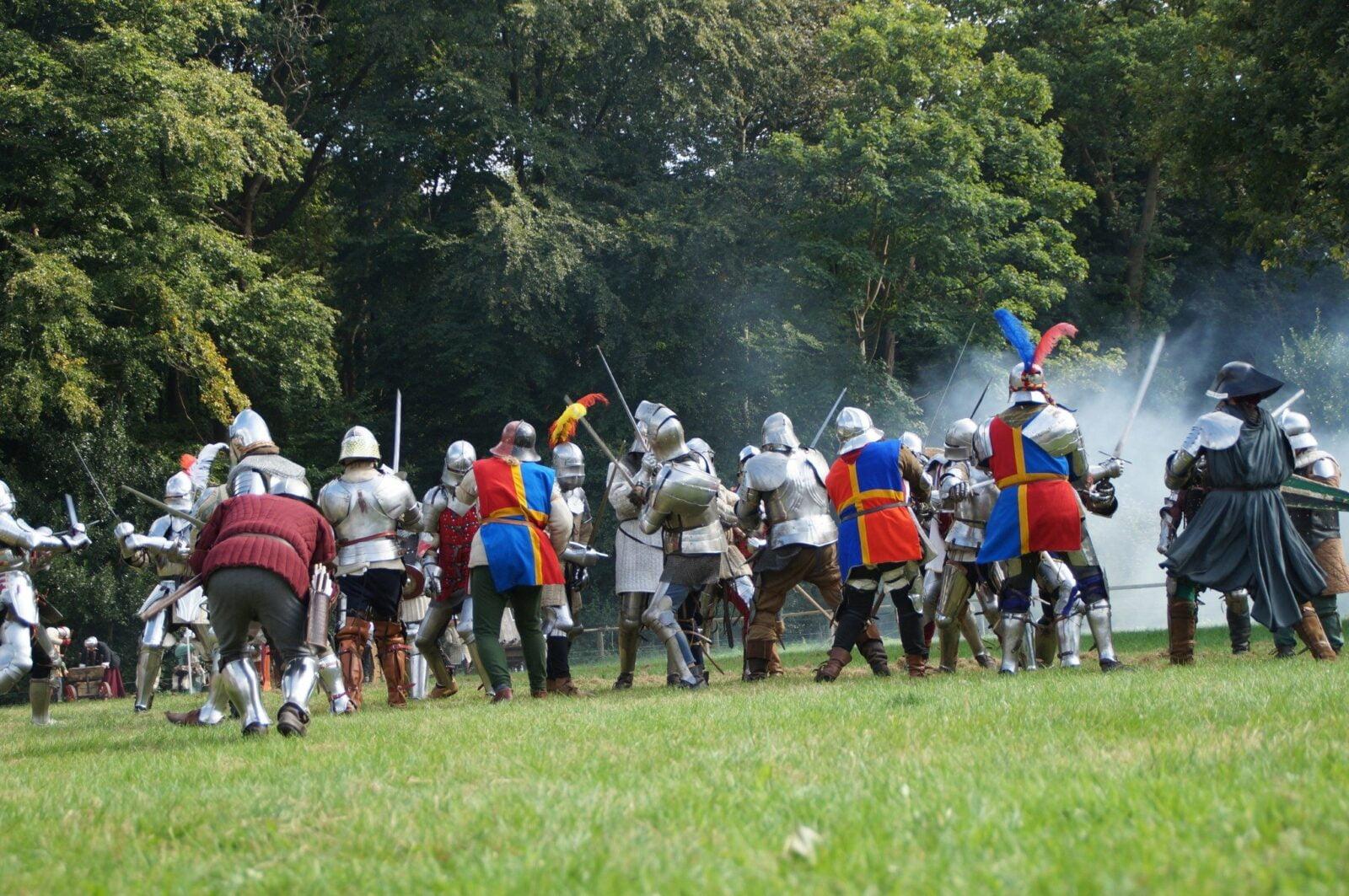 middeleeuws ter apel ridders in gevecht